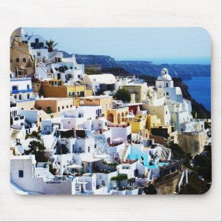 Tapis De Souris Île de Santorini en PHOTO de la Grèce