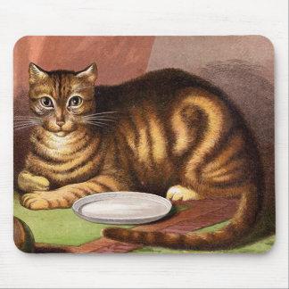 Tapis De Souris Illustration de cru de chat tigré de gingembre