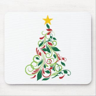 Tapis De Souris Illustration moderne élégante d'arbre de Noël