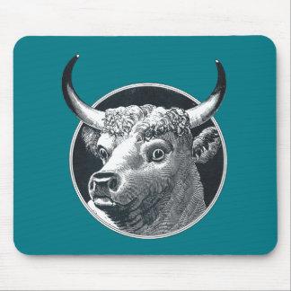 Tapis De Souris Illustration vintage Mousepad de tête de vache à