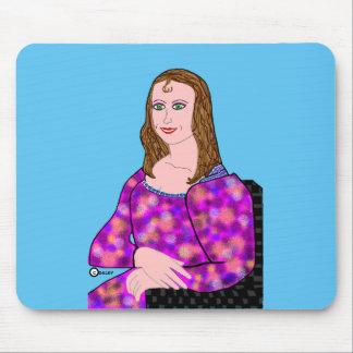 Tapis De Souris Image de bande dessinée de Mona Lisa