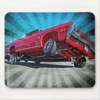 Tapis De Souris Impala 1968 de Chevy de Lowrider de rouge Mousepad