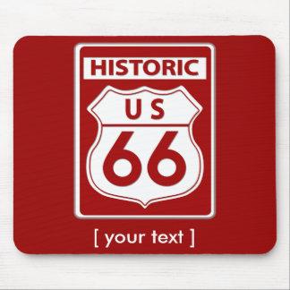 Tapis De Souris Itinéraire rouge historique 66 Mousepad