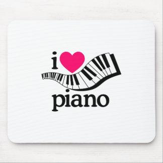 Tapis De Souris J'aime le piano/clavier