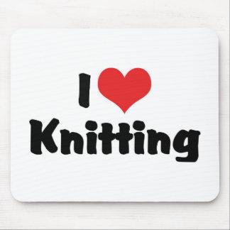 Tapis De Souris J'aime le tricot de coeur