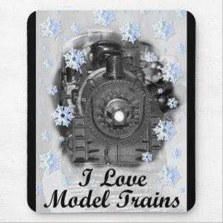 Tapis De Souris J'aime les trains modèles