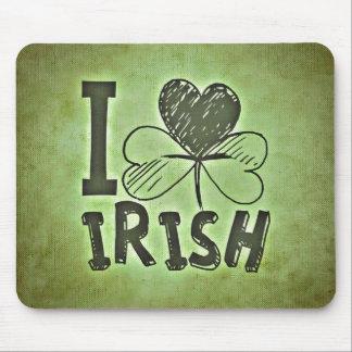 Tapis De Souris J'aime l'irlandais