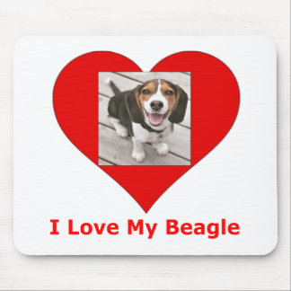 Tapis De Souris J'aime mon beagle