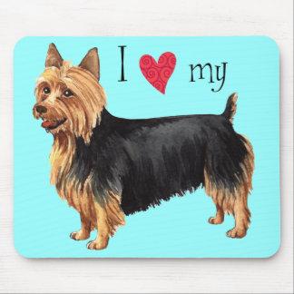 Tapis De Souris J'aime mon Terrier australien