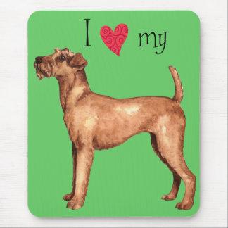 Tapis De Souris J'aime mon Terrier irlandais