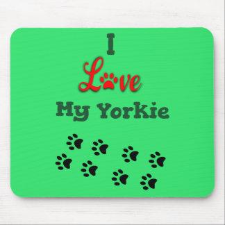Tapis De Souris J'aime mon Yorkie Mousepad