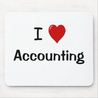 Tapis De Souris J'aime Mousepad de comptabilité