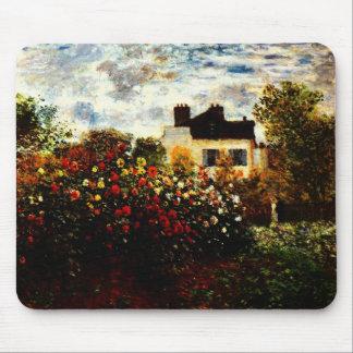 Tapis De Souris Jardin de Claude Monet-Monet à Argenteuil