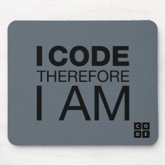 Tapis De Souris Je me code par conséquent suis