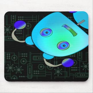 Tapis De Souris Jetez un coup d'oeil un robot de bleu de huer