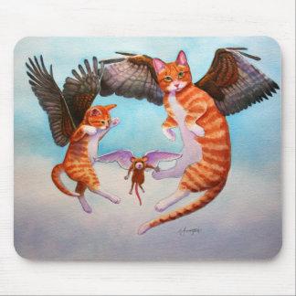 Tapis De Souris Jeu de chat et de souris d'ange