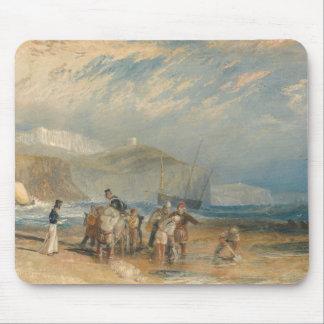 Tapis De Souris Joseph Mallord William Turner - port de Folkestone