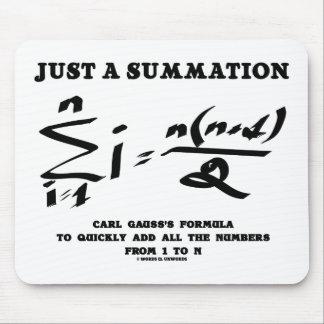 Tapis De Souris Juste une formule de gauss de Karl d'équation de