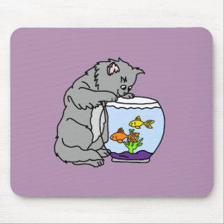 Tapis De Souris Kitty et cuvette de poissons