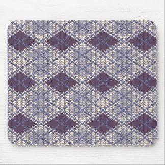 Tapis De Souris Knit à motifs de losanges Mousepad de BlueGrey
