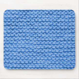 Tapis De Souris Knit bleu de fil