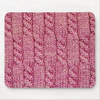 Tapis De Souris Knit câblé par fil rose