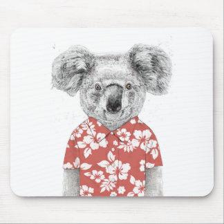 Tapis De Souris Koala d'été (rouge)