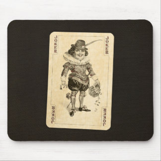 Tapis De Souris La carte de jeu vintage de joker sur la toile de