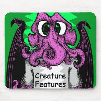 Tapis De Souris La créature comporte la chemise de logo comportant