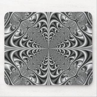 Tapis De Souris La géométrie gothique dans Mousepad monochrome