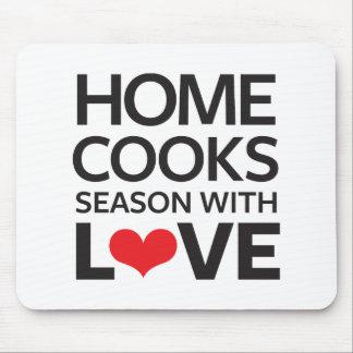 Tapis De Souris La maison fait cuire la saison avec amour