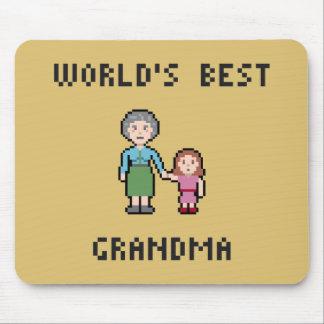 Tapis De Souris La meilleure grand-maman Mousepad des 8 mondes de