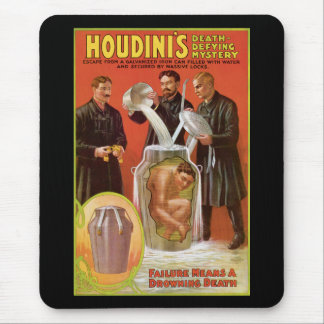 Tapis De Souris La mort de Huodini défiant Mystery, affiche 1908