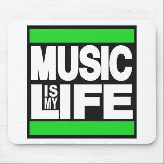 Tapis De Souris La musique est mon vert de la vie