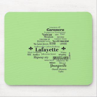 Tapis De Souris La paroisse de Lafayette Louisiane place le tapis