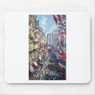 Tapis De Souris La rue Montorgueil, Paris par Claude Monet