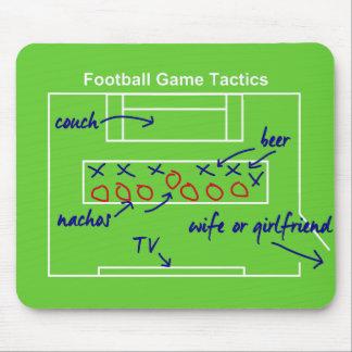 Tapis De Souris La tactique drôle de jeu de football américain,