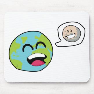 Tapis De Souris La terre et lune