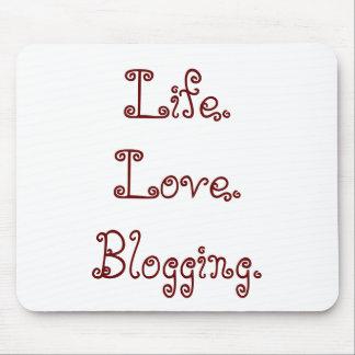 Tapis De Souris La vie. Amour. Mousepad Blogging