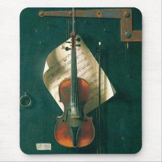 Tapis De Souris La vieille de violon toujours vie par Harnett,