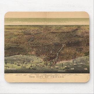 Tapis De Souris La ville de Chicago par Ives (1892)