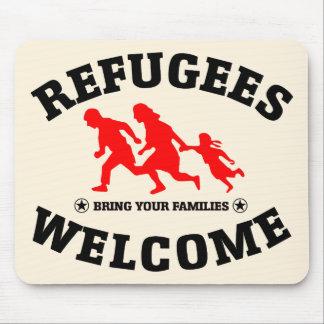 Tapis De Souris L'accueil de réfugiés amènent vos familles