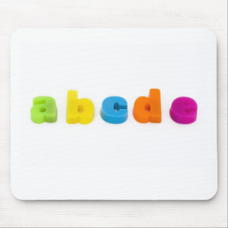 Tapis De Souris l'alphabet marque avec des lettres le tapis de