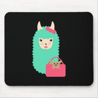 Tapis De Souris Lama Girly Emoji
