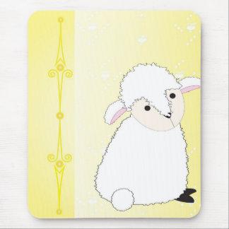 Tapis De Souris Lamby sur le jaune