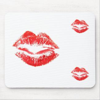Tapis De Souris L'amour, se bécote, des baisers, lèvres