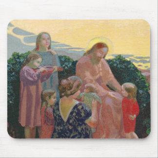 Tapis De Souris Le Christ avec les enfants, 1910