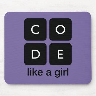 Tapis De Souris Le code aiment une fille