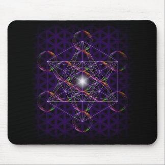 Tapis De Souris Le cube/fleur de Metatron de la vie #2