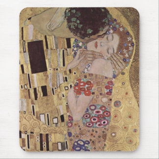 Tapis De Souris Le détail de baiser - Gustav Klimt